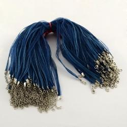 Organzacollier blau, mit verlängerungs..