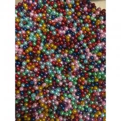 10 stk Perlen 4mm, farben zufällig gem..