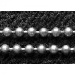 1 m Kugelketten, Silberfarbig, Perle c..