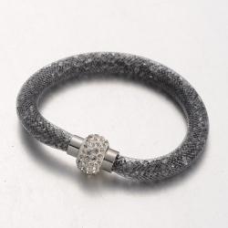 Armband, mit Acrylrhinestone Grau, 21..