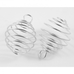 Perlenkäfig oval, 19 mm breit, 28 mm l..
