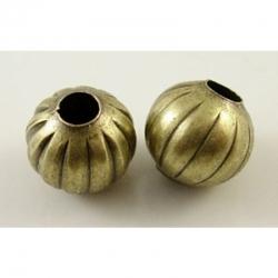 10 stk Perlen , Antik Bronze, 5 mm, Bo..