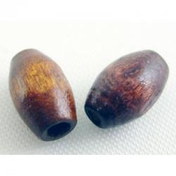 Holzperle in fassform,gefärbt, braun,5..