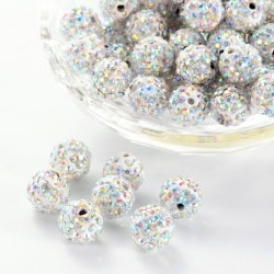 Polymer - Strass Perlen, Kristall ab, ..