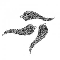 Engel Flügel Antiksilber 74mm x 22mm
