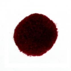 Kachmir Bommel rot, Rund 20mm
