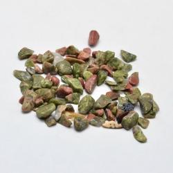20 gr Unakite Chip-Perlen, kein Loch, ..
