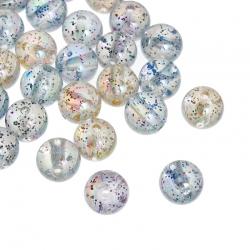 10 stk Acryl-Perlen mit Glitzer  10mm ..