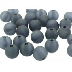 10 stk Acryl-Perlen, gefrostet, Schwar..