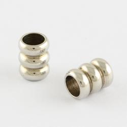 Edelstahlsäulen- Perlen, , 6.5x5.2 mm,..