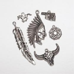 Anhängerset Indianer, Antik Silber Far..