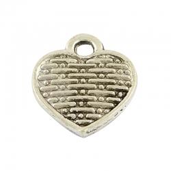 10 stk Herzanhänger Antik Silber Farbe..