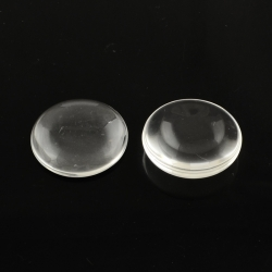 Glascabochons, Transparent, 25x6 mm
