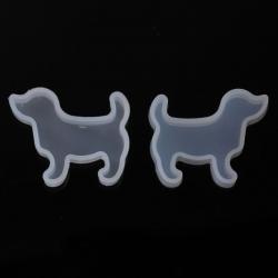 Gießform Hund Weiß 47mm x 38mm