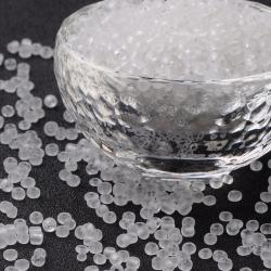 20 gr Rocailles gefrostetet weiß, Größ..