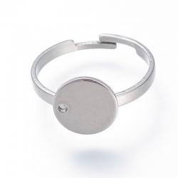 Edelstahl Ring verstellbar, 17.5mm, Fa..