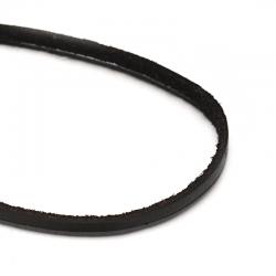 1 m Leder-Schnüre, Schwarz, 4~5x2.5 mm