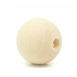 Holzperle naturfarben, 12mm bohrung 2...