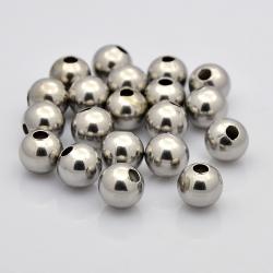 100 stk Edelstahl Perlen 8 mm