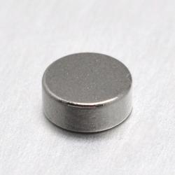 Flache runde Magnete Platin Farbe, 7x2..
