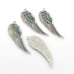 Flügel - Anhänger, mit Strass-Steinen,..