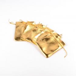 Beutel, golden, ca. 10 cm breit, 12 cm..