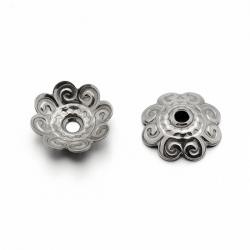 10 stk  Edelstahl Blume Perlenkappen, ..