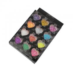 Bunt Glitter 14.5cm x 9cm, 1 Set (12 S..