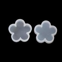 Gießform Blumen Weiß 32mm x 31mm