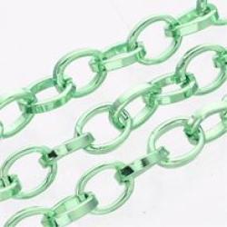 1m Aluminium-Kette, in grün oxidiert, ..