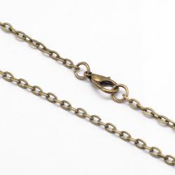 Halskette  mit Karabinerverschluss, an..