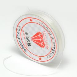 Kristallschnur weiß, 0,6 mm; 10 m / Ro..