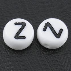 "10 stk Acryl Buchstabenperle ""Z"" ca 7m.."