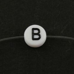 """10 stk Acryl Buchstabenperle """"B"""" ca 7m.."""