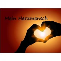 Engelkärtchen Herzmensch( ca Visitenka..