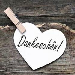 Engelkärtchen Dankeschön  ca Visitenka..