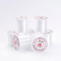 Elastisches Gummiband, weiß, 0.8 mm; 1..