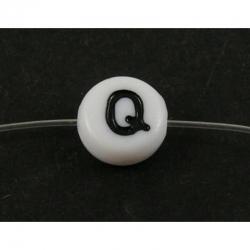 """10 stk Acryl Buchstaben """"Q"""" Perlen, 7m.."""