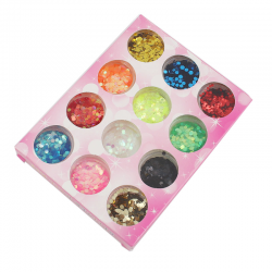 Hexagon Glitter 1 Set (12 Stück/Set)