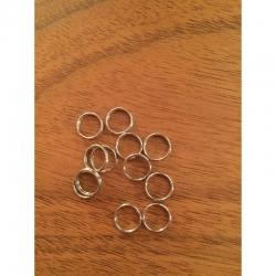 10 stk Doppelring edelstahl, 8x0,7mm