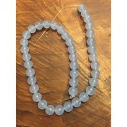 Aquamarin hellblau 10mm, bohrung 1mm
