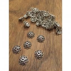 10 stk Perlenkappe 10.5x10.5x5mm, bohr..
