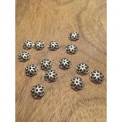 10 stk Perlenkappe tibetsilber 12mm, b..