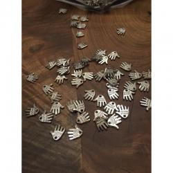 10 stk Hand made acryl, 12.5x11x1.5mm,..