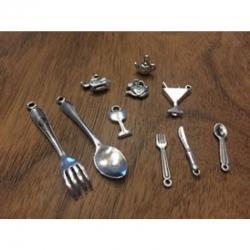 Metallanhänger- set Küche, 11-55mm