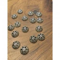 10 stk Perlenkappe mit herzen, antiksi..