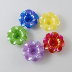 10 stk Blumen, 20x20x8 mm, Bohrung: 4 ..