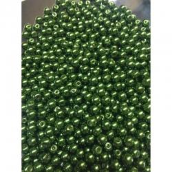 10 stk Glaswachsperlen 6mm, bohrung 0.8 mm