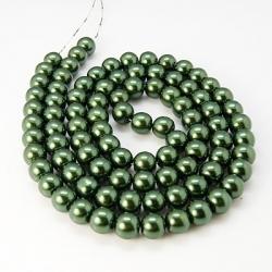 1 Strang Glas Perlen 12 mm Durchmesser, Loch: 1 mm,