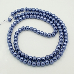 1 Strang Glas Perlen 14 mm , Loch: 1 mm,